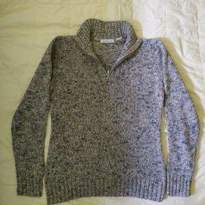 Liz Claiborne calico sweater